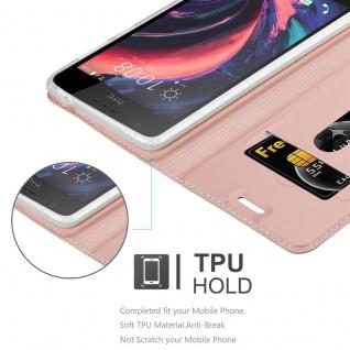 Cadorabo Hülle für HTC Desire 10 Lifestyle / Desire 825 in CLASSY ROSÉ GOLD - Handyhülle mit Magnetverschluss, Standfunktion und Kartenfach - Case Cover Schutzhülle Etui Tasche Book Klapp Style - Vorschau 2