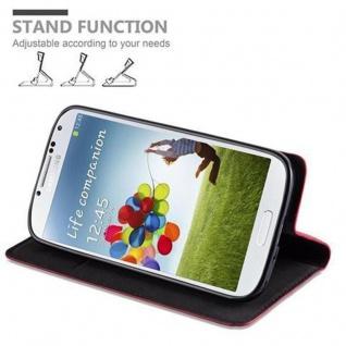 Cadorabo Hülle für Samsung Galaxy S4 in APFEL ROT - Handyhülle mit Magnetverschluss, Standfunktion und Kartenfach - Case Cover Schutzhülle Etui Tasche Book Klapp Style - Vorschau 5