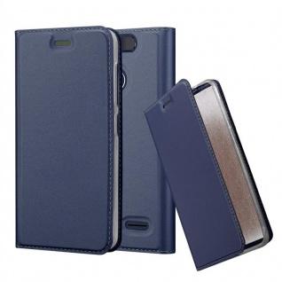 Cadorabo Hülle für ZTE Blade V8 MINI in CLASSY DUNKEL BLAU - Handyhülle mit Magnetverschluss, Standfunktion und Kartenfach - Case Cover Schutzhülle Etui Tasche Book Klapp Style - Vorschau 1