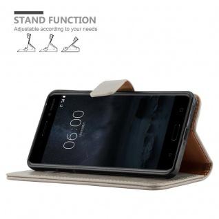 Cadorabo Hülle für Nokia 6 2017 in CAPPUCCINO BRAUN ? Handyhülle mit Magnetverschluss, Standfunktion und Kartenfach ? Case Cover Schutzhülle Etui Tasche Book Klapp Style - Vorschau 5