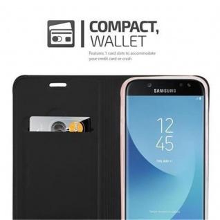 Cadorabo Hülle für Samsung Galaxy J7 2017 in CLASSY SCHWARZ - Handyhülle mit Magnetverschluss, Standfunktion und Kartenfach - Case Cover Schutzhülle Etui Tasche Book Klapp Style - Vorschau 3