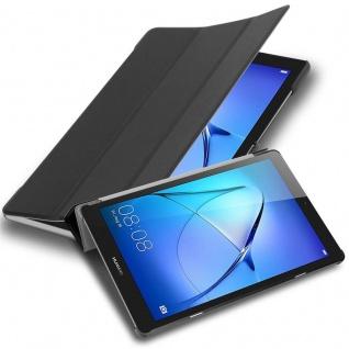 """Cadorabo Tablet Hülle für Huawei MediaPad T3 7 (7, 0"""" Zoll) in SATIN SCHWARZ Ultra Dünne Book Style Schutzhülle OHNE Auto Wake Up und Standfunktion aus Kunstleder"""
