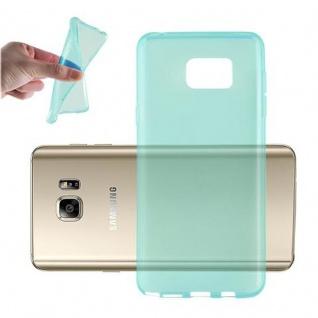Cadorabo Hülle für Samsung Galaxy NOTE 5 in TRANSPARENT BLAU - Handyhülle aus flexiblem TPU Silikon - Silikonhülle Schutzhülle Ultra Slim Soft Back Cover Case Bumper