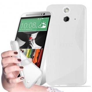Cadorabo Hülle für HTC ONE E9 in HALB TRANSPARENT ? Handyhülle aus flexiblem TPU Silikon ? Silikonhülle Schutzhülle Ultra Slim Soft Back Cover Case Bumper