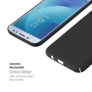 Cadorabo Hülle für Samsung Galaxy J7 2017 in FROSTY SCHWARZ - Hardcase Handyhülle aus Plastik gegen Kratzer und Stöße - Schutzhülle Bumper Ultra Slim Back Case Hard Cover - Vorschau 5