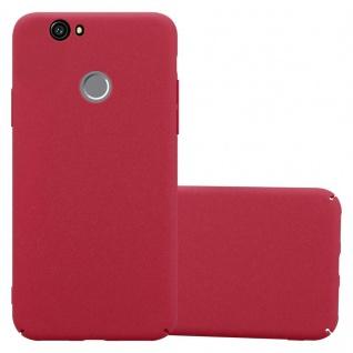 Cadorabo Hülle für Huawei Nova in FROSTY ROT - Hardcase Handyhülle aus Plastik gegen Kratzer und Stöße - Schutzhülle Bumper Ultra Slim Back Case Hard Cover