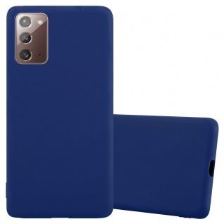 Cadorabo Hülle für Samsung Galaxy NOTE 20 in CANDY DUNKEL BLAU Handyhülle aus flexiblem TPU Silikon Silikonhülle Schutzhülle Ultra Slim Soft Back Cover Case Bumper