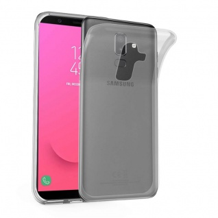 Cadorabo Hülle für Samsung Galaxy J8 2018 in VOLL TRANSPARENT - Handyhülle aus flexiblem TPU Silikon - Silikonhülle Schutzhülle Ultra Slim Soft Back Cover Case Bumper