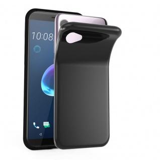 Cadorabo Hülle für HTC Desire 12 in SCHWARZ - Handyhülle aus flexiblem TPU Silikon - Silikonhülle Schutzhülle Ultra Slim Soft Back Cover Case Bumper