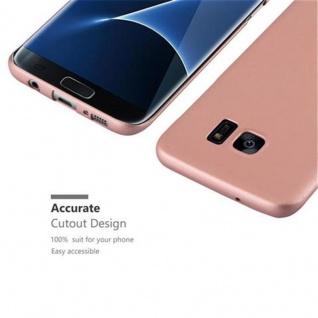 Cadorabo Hülle für Samsung Galaxy S7 EDGE in METALL ROSE GOLD - Hardcase Handyhülle aus Plastik gegen Kratzer und Stöße - Schutzhülle Bumper Ultra Slim Back Case Hard Cover - Vorschau 3