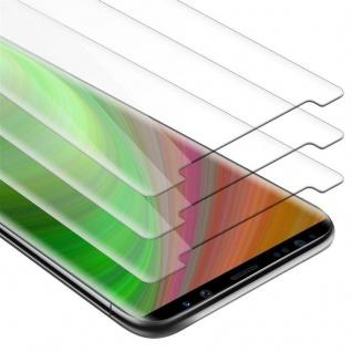 Cadorabo 3x Panzer Folie für Samsung Galaxy NOTE 8 - Schutzfolie in KRISTALL KLAR - 3er Pack Gehärtetes (Tempered) Display-Schutzglas in 9H Härte mit 3D Touch Kompatibilität