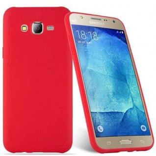 Cadorabo Hülle für Samsung Galaxy J7 2015 in CANDY ROT - Handyhülle aus flexiblem TPU Silikon - Silikonhülle Schutzhülle Ultra Slim Soft Back Cover Case Bumper - Vorschau 2