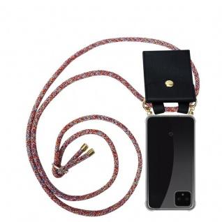Cadorabo Handy Kette für Google Pixel 4 in COLORFUL PARROT - Silikon Necklace Umhänge Hülle mit Gold Ringen, Kordel Band Schnur und abnehmbarem Etui ? Schutzhülle