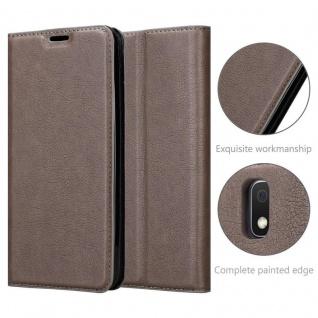 Cadorabo Hülle für Samsung Galaxy A10 in KAFFEE BRAUN - Handyhülle mit Magnetverschluss, Standfunktion und Kartenfach - Case Cover Schutzhülle Etui Tasche Book Klapp Style - Vorschau 5
