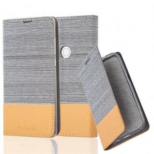 Cadorabo Hülle für Xiaomi MIX 2S in HELL GRAU BRAUN - Handyhülle mit Magnetverschluss, Standfunktion und Kartenfach - Case Cover Schutzhülle Etui Tasche Book Klapp Style