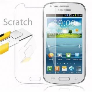 Cadorabo Panzer Folie für Samsung Galaxy TREND DUOS - Schutzfolie in KRISTALL KLAR - Gehärtetes (Tempered) Display-Schutzglas in 9H Härte mit 3D Touch Kompatibilität - Vorschau 2