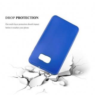 Cadorabo Hülle für Samsung Galaxy S6 EDGE in METALLIC BLAU - Handyhülle aus flexiblem TPU Silikon - Silikonhülle Schutzhülle Ultra Slim Soft Back Cover Case Bumper - Vorschau 3