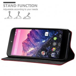 Cadorabo Hülle für LG NEXUS 5 in APFEL ROT Handyhülle mit Magnetverschluss, Standfunktion und Kartenfach Case Cover Schutzhülle Etui Tasche Book Klapp Style - Vorschau 2