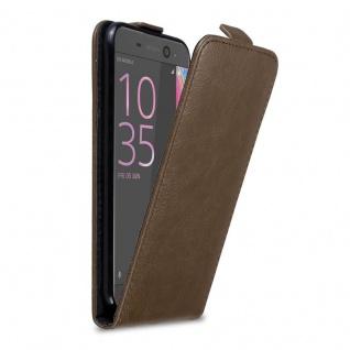 Cadorabo Hülle für Sony Xperia XA ULTRA in KAFFEE BRAUN - Handyhülle im Flip Design mit Magnetverschluss - Case Cover Schutzhülle Etui Tasche Book Klapp Style