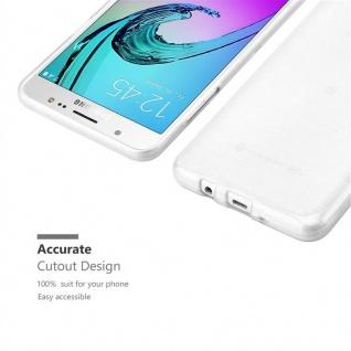 Cadorabo Hülle für Samsung Galaxy J7 2016 in SILBER - Handyhülle aus flexiblem TPU Silikon - Silikonhülle Schutzhülle Ultra Slim Soft Back Cover Case Bumper - Vorschau 5