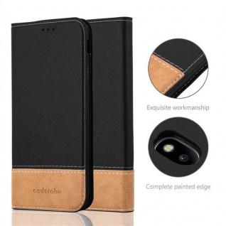 Cadorabo Hülle für Samsung Galaxy J7 2017 in SCHWARZ BRAUN ? Handyhülle mit Magnetverschluss, Standfunktion und Kartenfach ? Case Cover Schutzhülle Etui Tasche Book Klapp Style - Vorschau 2