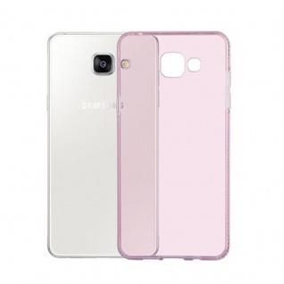 Cadorabo Hülle für Samsung Galaxy A5 2016 (6) - Hülle in TRANSPARENT ROSA - Handyhülle aus TPU Silikon im Strass Design - Silikonhülle Schutzhülle Ultra Slim Soft Back Cover Case Bumper - Vorschau 3