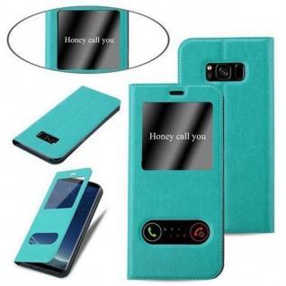 Cadorabo Hülle für Samsung Galaxy S8 in MINT TÜRKIS - Handyhülle mit Magnetverschluss, Standfunktion und 2 Sichtfenstern - Case Cover Schutzhülle Etui Tasche Book Klapp Style - Vorschau 4