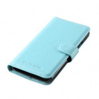 Cadorabo Hülle für HTC ONE M8 MINI in PASTEL BLAU - Handyhülle mit Magnetverschluss, Standfunktion und Kartenfach - Case Cover Schutzhülle Etui Tasche Book Klapp Style - Vorschau 3
