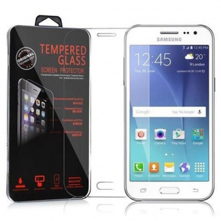 Cadorabo Panzer Folie für Samsung Galaxy J2 - Schutzfolie in KRISTALL KLAR - Gehärtetes (Tempered) Display-Schutzglas in 9H Härte mit 3D Touch Kompatibilität