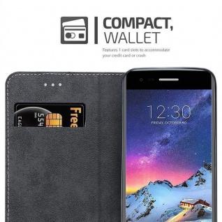 Cadorabo Hülle für LG K8 2017 in SCHWARZ BRAUN ? Handyhülle mit Magnetverschluss, Standfunktion und Kartenfach ? Case Cover Schutzhülle Etui Tasche Book Klapp Style - Vorschau 5
