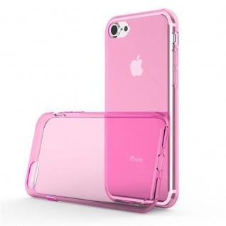 Cadorabo Hülle für Apple iPhone 7 / iPhone 7S / iPhone 8 - Hülle in TRANSPARENT PINK ? Handyhülle aus TPU Silikon im Ultra Slim 'AIR' Design - Ultra Slim Soft Backcover Case Bumper