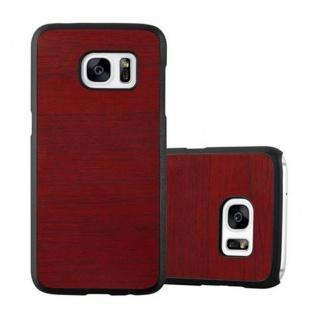 Cadorabo Hülle für Samsung Galaxy S7 in WOODY ROT ? Hardcase Handyhülle aus Plastik gegen Kratzer und Stöße ? Schutzhülle Bumper Ultra Slim Back Case Hard Cover