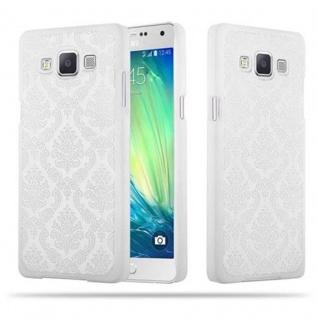 Samsung Galaxy A5 2015 Hardcase Hülle in WEIß von Cadorabo - Blumen Paisley Henna Design Schutzhülle ? Handyhülle Bumper Back Case Cover