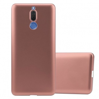 Cadorabo Hülle für Huawei MATE 10 LITE in METALLIC ROSÉ GOLD Handyhülle aus flexiblem TPU Silikon Silikonhülle Schutzhülle Ultra Slim Soft Back Cover Case Bumper