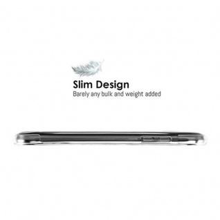Cadorabo Hülle für Samsung Galaxy J3 2015 (5) - Hülle in KOMPLETT TRANSPARENT - Handyhülle aus TPU Silikon mit Schlaufe im Small Waist Design - Silikonhülle Schutzhülle Ultra Slim Soft Back Cover Case Bumper - Vorschau 3