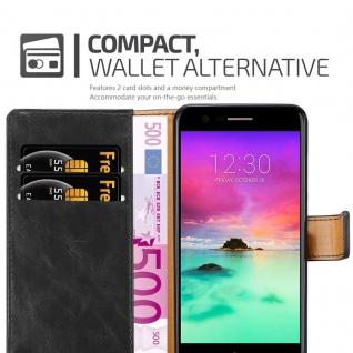 Cadorabo Hülle für LG K10 2017 in GRAPHIT SCHWARZ ? Handyhülle mit Magnetverschluss, Standfunktion und Kartenfach ? Case Cover Schutzhülle Etui Tasche Book Klapp Style - Vorschau 5