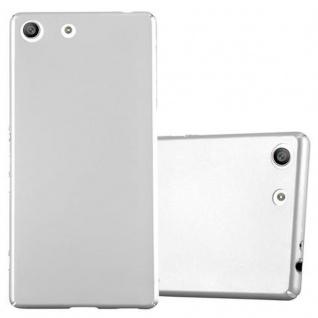 Cadorabo Hülle für Sony Xperia M5 - Hülle in METALL SILBER ? Hardcase Handyhülle im Matt Metal Design - Schutzhülle Bumper Back Case Cover