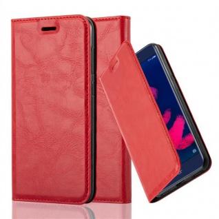 Cadorabo Hülle für Honor 6C PRO in APFEL ROT - Handyhülle mit Magnetverschluss, Standfunktion und Kartenfach - Case Cover Schutzhülle Etui Tasche Book Klapp Style