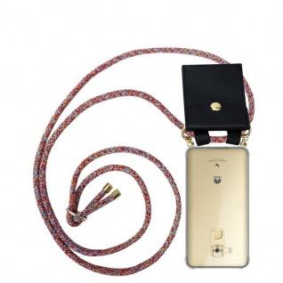Cadorabo Handy Kette für Huawei NOVA PLUS in COLORFUL PARROT - Silikon Necklace Umhänge Hülle mit Gold Ringen, Kordel Band Schnur und abnehmbarem Etui ? Schutzhülle