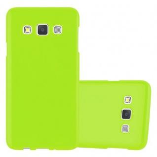 Cadorabo Hülle für Samsung Galaxy A3 2015 in JELLY GRÜN - Handyhülle aus flexiblem TPU Silikon - Silikonhülle Schutzhülle Ultra Slim Soft Back Cover Case Bumper