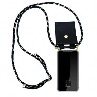 Cadorabo Handy Kette für Huawei MATE 20 PRO in SCHWARZ SILBER ? Silikon Necklace Umhänge Hülle mit Gold Ringen, Kordel Band Schnur und abnehmbarem Etui ? Schutzhülle