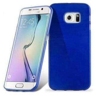 Cadorabo Hülle für Samsung Galaxy S6 EDGE in BLAU - Handyhülle aus flexiblem TPU Silikon - Silikonhülle Schutzhülle Ultra Slim Soft Back Cover Case Bumper