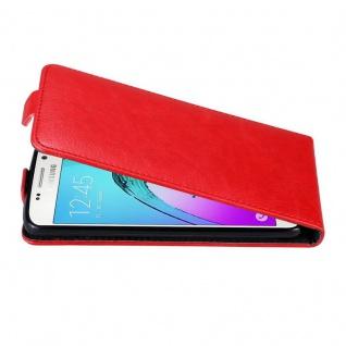 Cadorabo Hülle für Samsung Galaxy A3 2016 in APFEL ROT Handyhülle im Flip Design mit unsichtbarem Magnetverschluss Case Cover Schutzhülle Etui Tasche Book Klapp Style