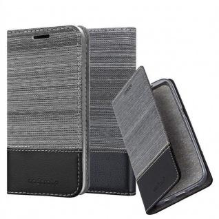 Cadorabo Hülle für Huawei Y5 2018 in GRAU SCHWARZ - Handyhülle mit Magnetverschluss, Standfunktion und Kartenfach - Case Cover Schutzhülle Etui Tasche Book Klapp Style