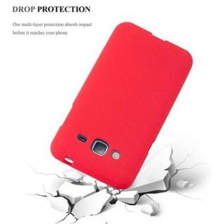 Cadorabo Hülle für Samsung Galaxy J3 / J3 DUOS 2016 in FROST ROT - Handyhülle aus flexiblem TPU Silikon - Silikonhülle Schutzhülle Ultra Slim Soft Back Cover Case Bumper - Vorschau 5