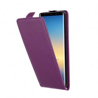 Cadorabo Hülle für Samsung Galaxy NOTE 8 in BORDEAUX LILA - Handyhülle im Flip Design aus strukturiertem Kunstleder - Case Cover Schutzhülle Etui Tasche Book Klapp Style