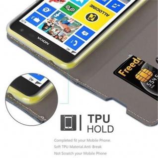 Cadorabo Hülle für Nokia Lumia 625 in DUNKEL BLAU SCHWARZ - Handyhülle mit Magnetverschluss, Standfunktion und Kartenfach - Case Cover Schutzhülle Etui Tasche Book Klapp Style - Vorschau 3