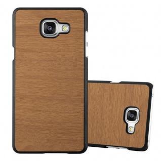 Cadorabo Hülle für Samsung Galaxy A5 2016 in WOODEN BRAUN - Handyhülle aus flexiblem TPU Silikon - Silikonhülle Schutzhülle Ultra Slim Soft Back Cover Case Bumper