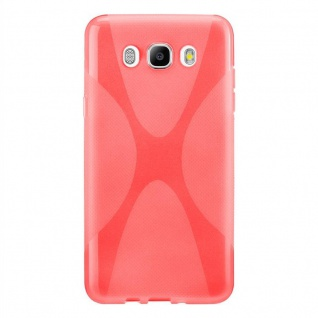 Cadorabo Hülle für Samsung Galaxy J7 2016 in INFERNO ROT - Handyhülle aus flexiblem TPU Silikon - Silikonhülle Schutzhülle Ultra Slim Soft Back Cover Case Bumper - Vorschau 3