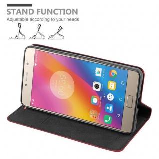 Cadorabo Hülle für Lenovo P2 in APFEL ROT Handyhülle mit Magnetverschluss, Standfunktion und Kartenfach Case Cover Schutzhülle Etui Tasche Book Klapp Style - Vorschau 3